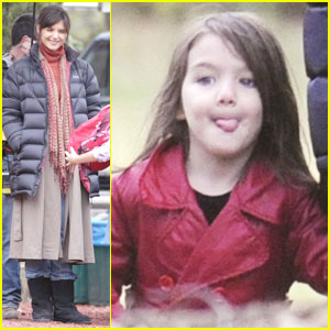 Suri Cruise is a Red Coat Cutie