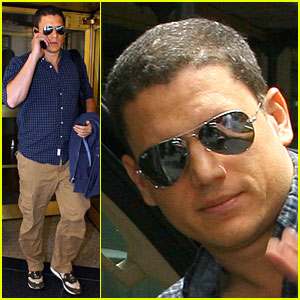 Wentworth Miller Lays Down the Law (& Order)