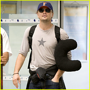 Leo DiCaprio Needs Neck Pillow Support