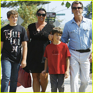 Pierce Brosnan Has Family Fun