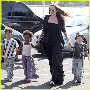 Angelina Jolie and her Toulon Tykes