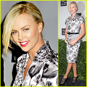 Charlize Theron: Fashion Night Out with Dior