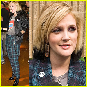 Drew Barrymore is Bad in Plaid
