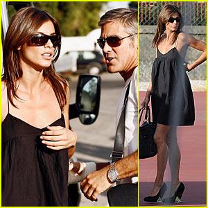 George Clooney & Elisabetta Canalis Hit Venice Film Festival