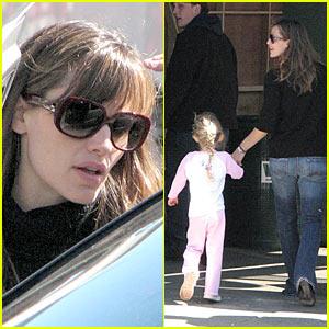 Jennifer Garner & Violet Visit Papa Ben Affleck