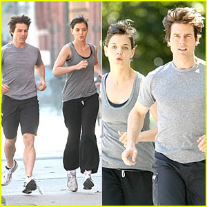 Tom Cruise &#038; Katie Holmes: Jogging Buddies