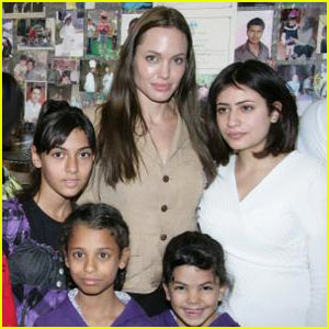 Brad & Angelina Visit Orphaned Children in Jordan