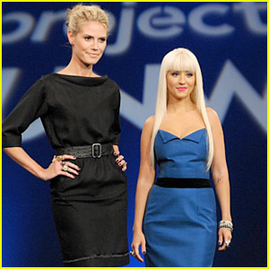 Christina Aguilera on Project Runway -- FIRST LOOK