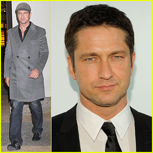 Gerard Butler Hits Whitney Studio Party