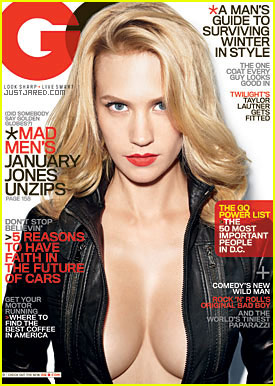 January Jones Covers 'GQ' November 2009 -- SEXY