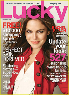 Rachel Bilson Covers 'Lucky' November 2009