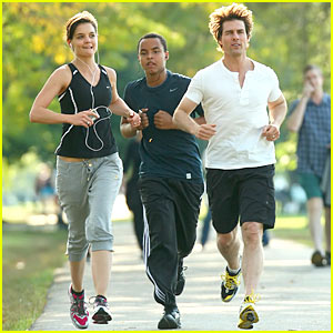 Tom Cruise & Katie Holmes: Charles River Run