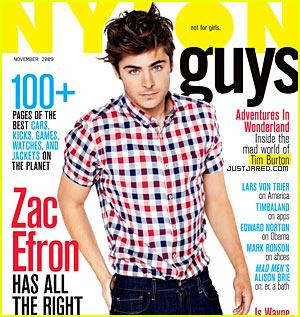 Zac Efron Covers 'Nylon Guys' November 2009