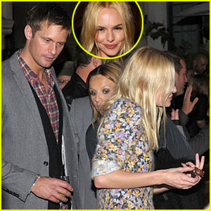 Alexander Skarsgard & Kate Bosworth Hold Hands at GQ Party