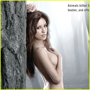 Christian Serratos Poses Nude for PETA