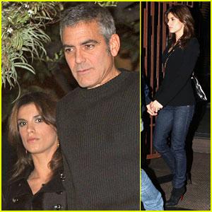 George Clooney & Elisabetta Canalis: Roman Rendezvous