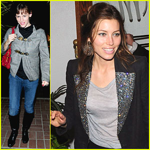 Jennifer Garner & Jessica Biel: Madeo Dinner Date