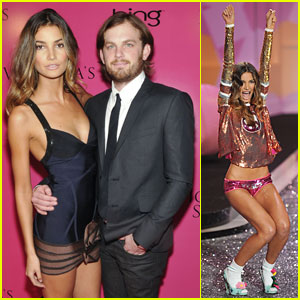 Lily Aldridge & Caleb Followill: Pink Carpet Pair