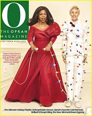 Oprah & Ellen DeGeneres Shoot Four December Covers