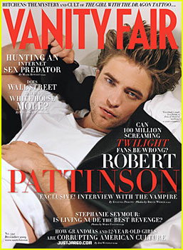 Robert Pattinson Covers Vanity Fair
