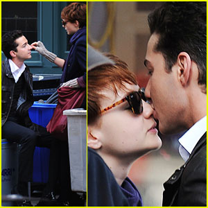 Carey Mulligan Gets a Wall Street Smooch from Shia LaBeouf