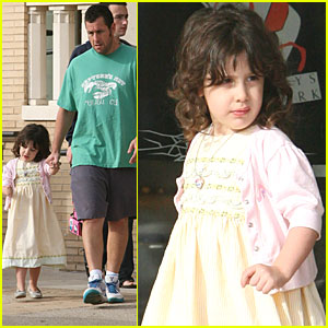Adam Sandler and his cutie pie daughter, Sadie , hold hands as they ...