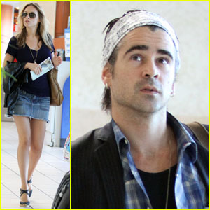 Colin Farrell & Alicja Bachleda: Mexico Move Out