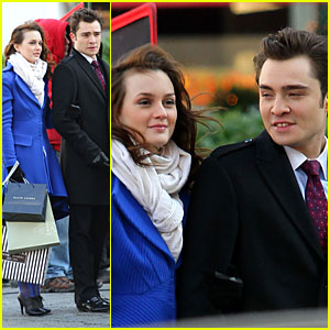 Ed Westwick & Leighton Meester: Cute Couple!