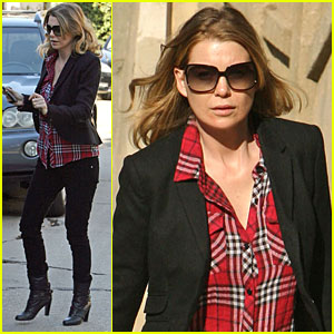 Ellen Pompeo is Pretty in Plaid