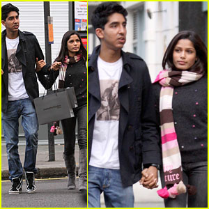 Freida Pinto & Dev Patel: Notting Hill & Holding Hands!