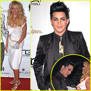 Pamela Anderson Gives Adam Lambert a Handful