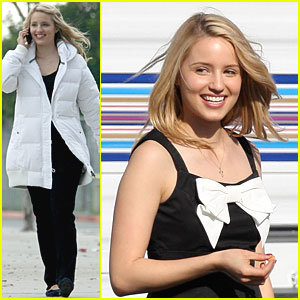 Dianna Agron is a 'Glee' Set Sweetheart