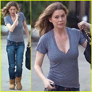 Ellen Pompeo Shows A Little Skin