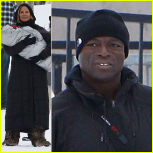 Heidi Klum &#038; Seal: Snowboard Lessons!