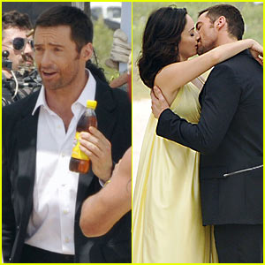 Hugh Jackman Shoots Lipton Ice Tea Commercial