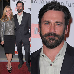 Jon Hamm Boasts A Beard