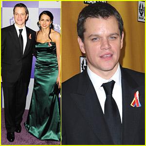 Matt Damon - Golden Globes 2010 After Party