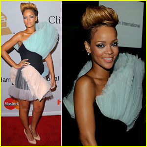 Rihanna Rocks Clive Davis' Grammys Party