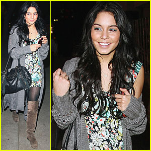 Vanessa Hudgens Visits Aroma with Aly & AJ