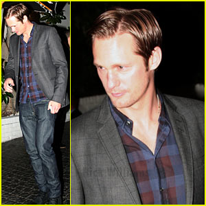 Alexander Skarsgard Celebrates Best Director Oscar Nominees