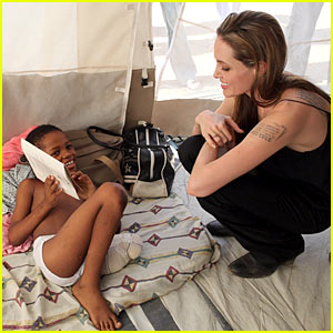 Angelina Jolie Visits Haiti, Cheered On By Kids