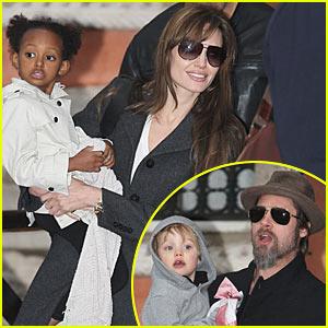 Brad Pitt & Angelina Jolie: 'Tourist' Family Set Visit!