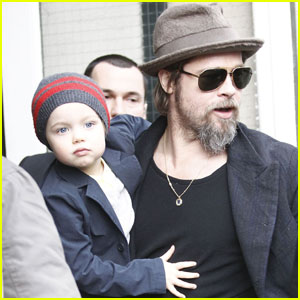 Shiloh & Zahara Jolie-Pitt: Day Out with Dad!