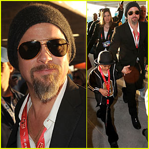 Brad Pitt: Super Bowl Sunday with Maddox!