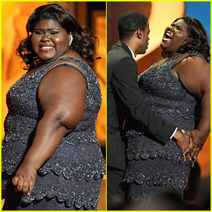 Chris Rock Grabs Gabourey Sidibe's Bottom!
