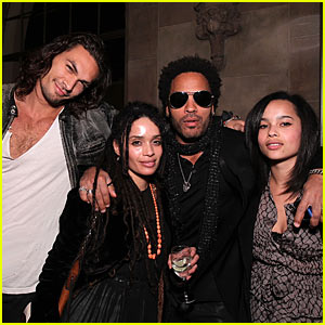 Lenny Kravitz & Lisa Bonet Reunite... For A Party