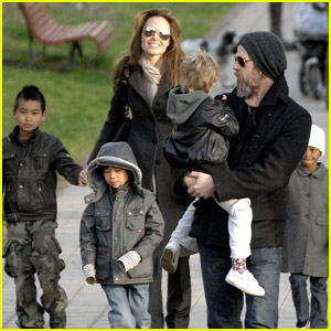 Angelina Jolie & Brad Pitt: Family Fete