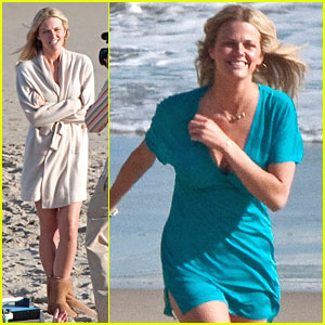 Brooklyn Decker Hits The Beach with Adam Sandler