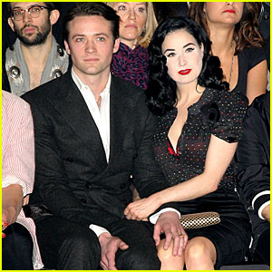 Dita Von Teese Shows Support for Louis Marie's Father