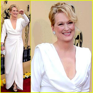 Meryl Streep -- Oscars 2010 Red Carpet